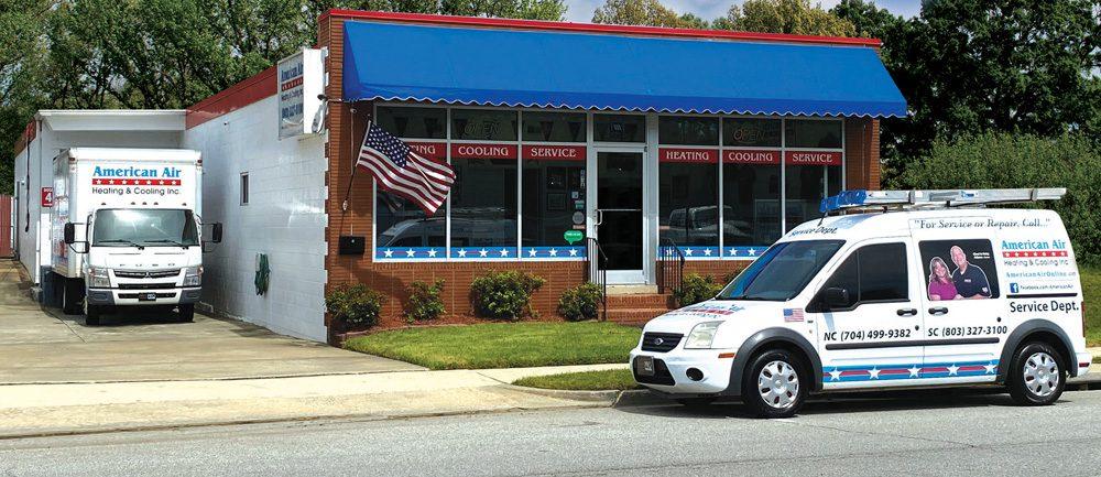 American Air Heating & Cooling   Building and van